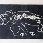 Black Cat Woodcut